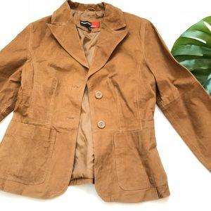 Vintage •Suede Leather Jacket •